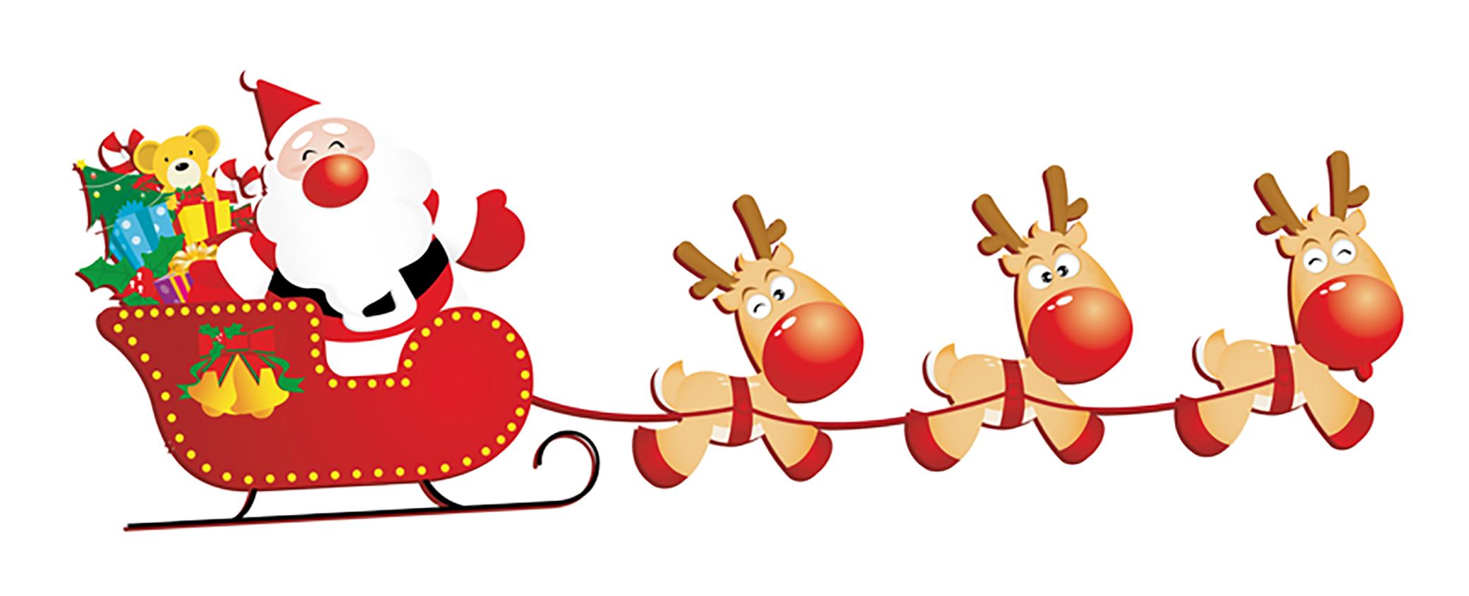 Slitta Babbo Natale Immagini.Babbo Natale Con Slitta 1000 Risol Color Line Ancona